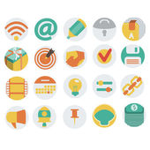Icons in Flat Design — Stock Vector