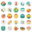 Flat business icons — Stock Vector #35727829