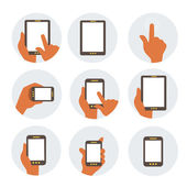 Mobile communication flat icons — Stock Vector