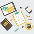 Flat modern illustration, web design development workflow — Stock Photo