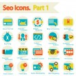 Stock Vector: SEO icons set part 1