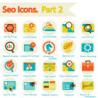 Stock Vector: SEO icons set part 2