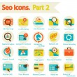 SEO icons set part 2 — Stock Vector