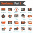 SEO icons set part 1 — Stock Vector