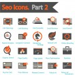 SEO icons set part 2 — Vector de stock