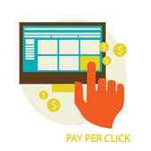 Pay per click — Stock Vector
