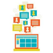 Flat modern mobile communication technology — Stock Vector
