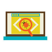 Bug in the programming code — Stock Vector