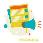 Press Release — Stock Vector