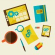 Web design development workflow — Stock Vector