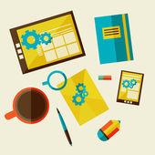 Web design development workflow — Stock Vector