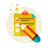 Checklist — Stockvektor