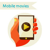 Mobile movies — Stock Vector