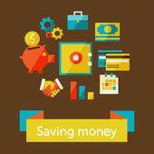 Saving money — Stock Vector