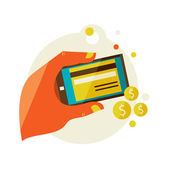 Processing of mobile payments — Vector de stock