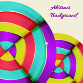 Abstract colorful rainbow curve background design. — Stockvektor