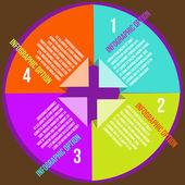 Koncepcje koło z ikony infografika — Wektor stockowy