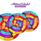 Abstrait arc-en-ciel colorés courbe design de fond. — Vecteur