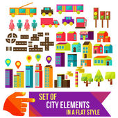 Set of city infographics in a flat style — Stock Photo