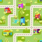 Cidade conceito base padrão sem emenda — Vetorial Stock