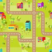 Kasaba kavramı arka plan deseni sorunsuz — Stok Vektör