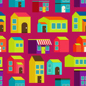 Town concept background pattern seamless — Vector de stock