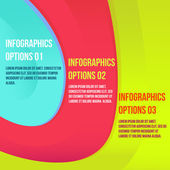 Infographics colorful — Vector de stock