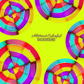 Abstract colorful rainbow curve background design. — Stockvector