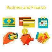 商业和金融的插图 — 图库矢量图片
