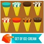 Set of ice cream horns — Stock Vector #44135869
