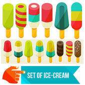 Ice cream set — Stock Vector
