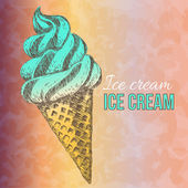 アイス クリームは、手描き下ろしイラスト — ストックベクタ