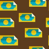 Money seamless background — Stock Vector