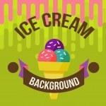 Ice cream background — Stock Vector #46744491
