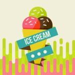 Постер, плакат: Ice cream background