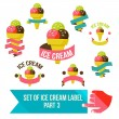 Set of ice cream shop badges and labels — Stock Vector