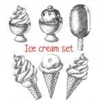 Ice cream set. — Stock Vector