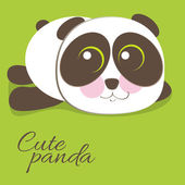 Cute young baby panda bear . — Vecteur