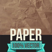 しわくちゃの紙のテクスチャ。ベクトル イラスト. — ストックベクタ