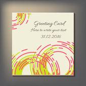 Cartão bonito abstrato convite. — Vetorial Stock