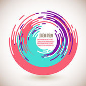 Abstract colorful circles background — Stock vektor