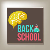 Back to school design template — ストックベクタ