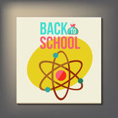 Back to school design template — Stockvector
