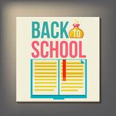 Volver a la plantilla de diseño de la escuela — Vector de stock