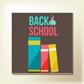 Back to school design template — Stock Vector