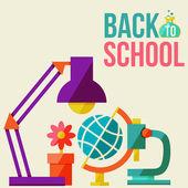 Back to school design template — ストックベクタ