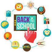 Back to school design template — Stock Vector