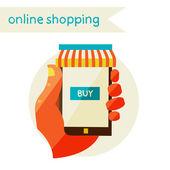 Online shopping. Sale. Flat design modern illustration. — Stockvector