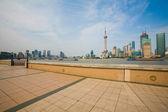 Shanghai china aus dem bund — Stockfoto