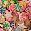 Stock Photo: Decorated Christmas cookies